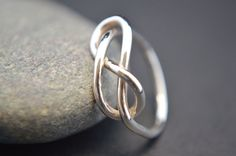 Sterling Silver Infinity Ring Silver Wire Ring by SimplyEmea