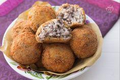 Gnocchi al gorgonzola Arancini, Finger Foods, Italian Recipes, Main Dishes, Bakery, Muffin, Pasta, Vegetables, Cooking