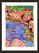 """""""From the Watchtower"""" by Celesa Lucien Watercolor ~ 6.0"""" x 4.5"""""""