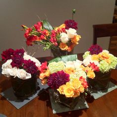 Some of my floral arrangements... Just for fun.
