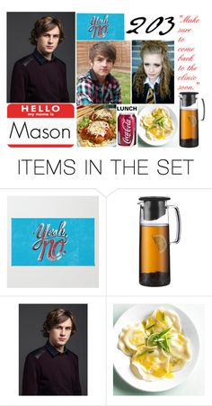 """""""Lunch"""" by gleejunkie007 ❤ liked on Polyvore featuring art"""