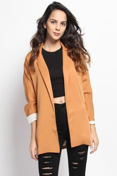$81.00 - Boyfriend Longline Tailored Blazer Jacket
