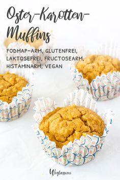Carrot Muffins, Vegan Muffins, Low Fodmap, Vegan Baking, Easter Recipes, Get Healthy, Carrots, Sweet Treats, Clean Eating