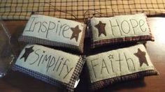 primitive pillow ornaments