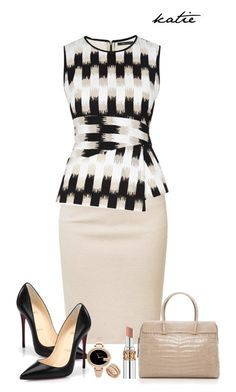 Office by katiepe1 on Polyvore featuring BCBGMAXAZRIA, Majestic, Christian Louboutin, Tiffany & Co., Gucci, Bulgari, Yves Saint Laurent