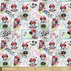 Licensed by Disney, This Disney Minnie Mouse Comic Strip is tightly woven and durable, suitable for adding a creative touch to your next sewing or crafting. Mickey Mouse Pictures, Minnie Mouse, Comic Strips, Disney, Cotton Fabric, Weaving, Quilts, Pattern, Spotlight