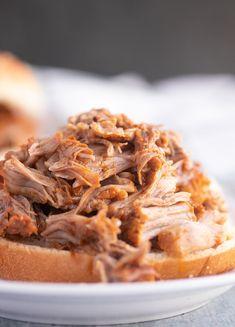 North Carolina Instant Pot Pulled Pork Bbq Pork Tenderloin, Pork Chops And Gravy, Barbecue Sauce Recipes, Pulled Pork Recipes, Grilling Recipes, Vinegar Based Bbq Sauce, Carolina Pulled Pork, Bbq Sauce Ingredients, Smoked Pulled Pork