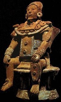 Dignatario sentado en su trono Terracota Maya