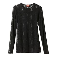 Kirna Zabete for Target® Long-sleeve Jacquard Knit Lace Top in Black.Opens in a new window