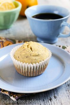 Gluten-Free Lemon Poppy Seed Muffins with whole grains