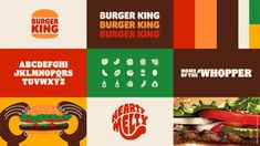 As part of this revamp Burger King has ditched its previous logo, introduced in 1999, in favour of a flat design that is more aligned with the logo used by the brand throughout the 1970s, 80s and 90s. Visual Identity, Brand Identity, Identity Design, Corporate Identity, Buger King, Logan, Fast Food Franchise, Restaurant Signage, Restaurant Identity