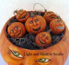 Momma Pumpkin and babies. Artist Tammy Strum of Light and shadow Studio @2015