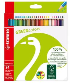 Stabilo Green Colored Pencil Set of 24