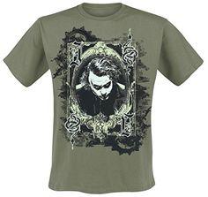 Batman The Dark Knight - Joker Card Camiseta Aceituna M #regalo #arte #geek #camiseta