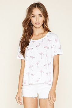 Flamingo Print Tee | Forever 21 Canada