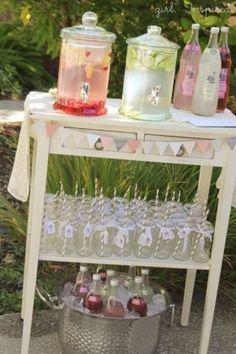 Neat wedding drink station