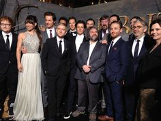 Peter Jackson and the incredible cast of The Hobbit: The Desolation of Smaug at last night's world premiere!
