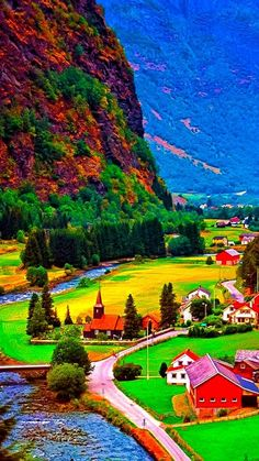 Science Discover Challenge yourself with this Aldeia de Flam em Flamsdalen Noruega ! jigsaw puzzle for free. Beautiful Nature Pictures, Beautiful Nature Wallpaper, Nature Images, Amazing Nature, Beautiful Landscapes, Beautiful World, Beautiful Gardens, Landscape Art, Landscape Photography