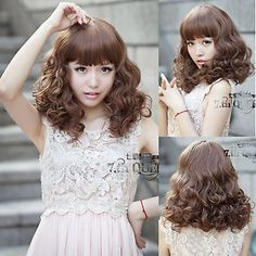 Ladies perruque parrucca Hair Wigs fashion new curly wave short hair cosplay party full long wig     #http://www.jennisonbeautysupply.com/    http://www.jennisonbeautysupply.com/products/ladies-perruque-parrucca-hair-wigs-fashion-new-curly-wave-short-hair-cosplay-party-full-long-wig/,     Welcome you To Buy Come Happiness shopping CAP TYPE: Wefted Cap with Skin Top CAP SIZE: Average Size:Fit all Item specifics Condition:      New with tags: A brand-new, unused, and unworn item…