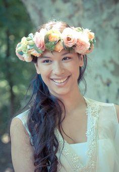 Gorgeous flower crown | The Handmade Wedding ; @Marius and Co. L'agence évènementielle