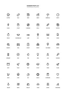 Random Stuff Free Iconset vol 2 Mini Drawings, Easy Drawings, Behance Icon, Easy Doodle Art, Doodle Tattoo, Bullet Journal Notes, Simple Doodles, Hand Doodles, Instagram Highlight Icons