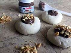 It's World Nutella Day! Naturally, a Nutella lover like myself is happy to use any reason to make something with the chocolate hazelnut spread. To celebrate the occasion, I combined Nutella with one of my Nutella Cookies, Biscuits, Christmas Entertaining, Snack Recipes, Snacks, Thumbprint Cookies, Chocolate Hazelnut, Shortbread, Christmas Baking