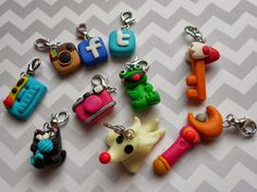 polymer clay charms- dooood :) fimo project yesyesyesyessssssss