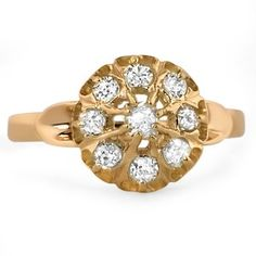 The Tasha Ring  A decadent design that dazzles with diamonds from the Edwardian Era