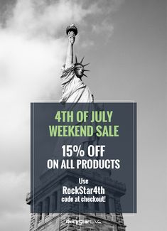 4th of July Weekend Sale on all products 15% OFF!! Use RockStar4th code at checkout! http://rockstarcv.com/