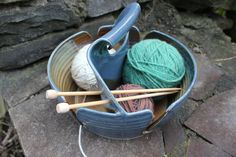 Super Drool over this!!! Custom Yarn Bowl Double Yarn Bowl Yarn Basket Yarn by aaharrison, $82.00