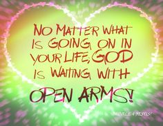 Open arms of God
