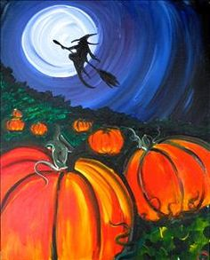 "Early Halloween Special! ""The Witch"" - Sherman, TX Painting Class - Painting with a Twist"