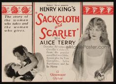 Sackcloth and Scarlet (1925) Stars: Alice Terry, Orville Caldwell, Dorothy Sebastian ~ Director: Henry King
