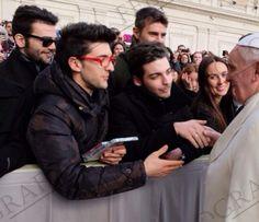 Ignazio Boschetto, Piero Barone, Gianluca Ginoble, Pope Francesco 2/12/2013