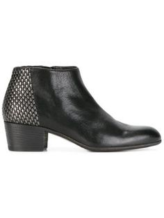 metallic detail ankle boots