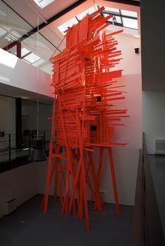 Arne Quinze Abstract Sculpture, Sculpture Art, Modern Art, Contemporary Art, Red Artwork, Artistic Installation, Land Art, Public Art, Dinners For Kids