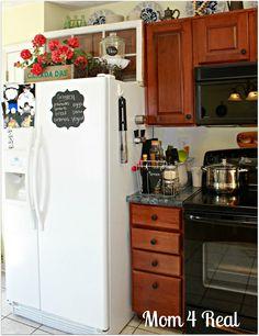 top of refrigerator decor - Google Search
