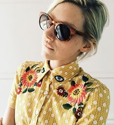 embroidery, art, clothing, by the talented Tessa Perlow! Diy Bordados, Tessa Perlow, Style Me, Cool Style, Bordado Floral, Diy Vetement, Diy Fashion, Fashion Tips, Petite Fashion