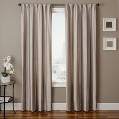 Softline Home Fashions Ezra Striped Semi Sheer Rod Pocket Single Curtain Panel Drapery Panels, Window Panels, Drapes Curtains, Contemporary Curtains, Striped Curtains, Blinds For Windows, All Modern, Window Treatments, House Styles