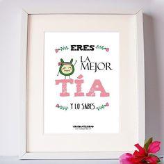 Eres la mejor tía  y lo sabes   Lámina disponible en http://ift.tt/1n71PmC  #tia #lamejortia #lamina #regalo #sobrina #virusdlafelicidad #tiendaderegalos #bonita #especial #personalizada #encatala