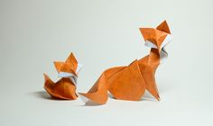 Wet Fold Origami Technique Gives Wavy Personality to Paper Animals by Artist…