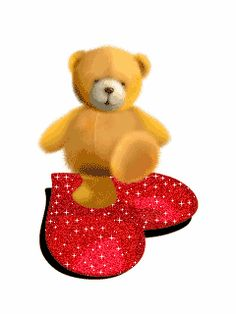 Daily Beautiful Gifts: L♥vely Bear. Cute Teddy Bear Pics, Teddy Bear Quotes, Teddy Bear Images, Teddy Bear Cartoon, Teddy Bear Pictures, Valentines Day Cartoons, Valentines Day Bears, Cute Love Pictures, Cute Love Gif