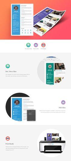 Material Resume/ CV Template on Behance