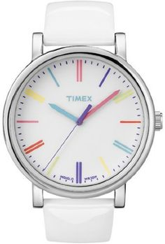 Timex Unisex Heritage T2N791 White Leather Quartz Watch with White Dial Timex. $55.21. Heritage Collection. 42mm Case Diameter. Mineral Crystal. Quartz Movement. 30 Meters / 100 Feet / 3 ATM Water Resistant. Save 15%!