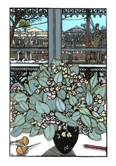 Australian Native Flowers, Australian Art, Lino Print Artists, Christine Mccarthy, Art Prints, Lino Prints, Block Prints, Stencil Painting, Tampons