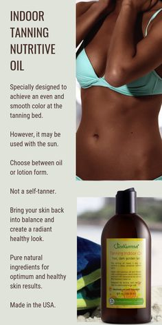 Specially designed to achieve an even and smooth color at the tanning bed is part of fitness fitness - Indoor Tanning Lotion, Best Tanning Lotion, Tanning Bed, Tanning Tips, Beauty Skin, Health And Beauty, How To Tan Faster, Vitis Vinifera, Beauty Hacks