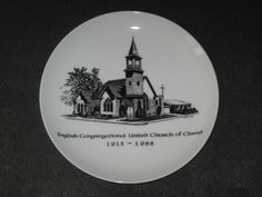 75 Years English Congregational United Church of Christ 1913-1988 Plate #DH25