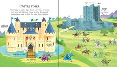 See inside My Very First Castles Book #usborne #childrens #books #nonfiction #castles #medieval #knights #spotting #look #talk #vocabulary #preschool