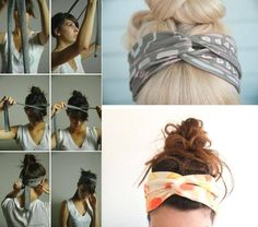 DIY hair wraps... Perfect for those lazy hair days!