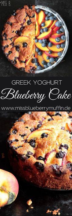 Blaubeer Nektarinen Kuchen // Blueberry Greek Yoghurt Cake